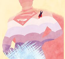 JLA: Superman Minimalist Comics Justice League of America by markitzero