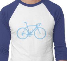 Bike Light Blue (Big) Men's Baseball ¾ T-Shirt