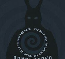Donnie Darko The Only Way to Unwind the Future is to Follow the Path Movie Poster by markitzero