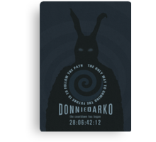 Donnie Darko The Only Way to Unwind the Future is to Follow the Path Movie Poster Canvas Print