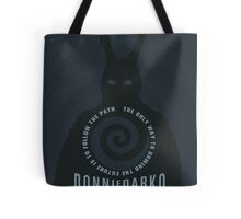 Donnie Darko The Only Way to Unwind the Future is to Follow the Path Movie Poster Tote Bag