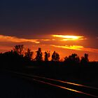 Sunset at the Railroad by Vonnie Murfin
