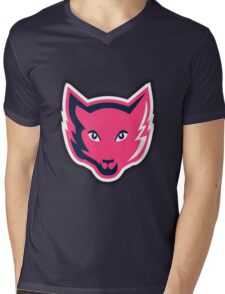 Pink Fox Mens V-Neck T-Shirt