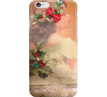 Holly in her Hair Christmas greeting Card iPhone Case/Skin