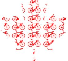 Bike Flag Canada (Small) Sticker
