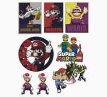 Mario theme stickers x 8 by Jetti