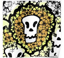 Colourful Skull Poster