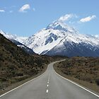 The road to Mount Cook by Nicola Barnard
