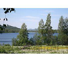Lake and Hills Photographic Print