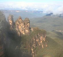The Three Sisters, Blue Mountains - Australia by Nicola Barnard