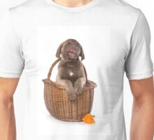 Funny brown puppy retriever Unisex T-Shirt