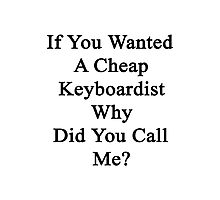 If You Wanted A Cheap Keyboardist Why Did You Call Me?  Photographic Print