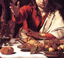 Caravaggio - Supper with Emmaus Sticker