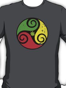 Reggae Love Vibes - Cool Weed Pot Reggae Rasta T-Shirt Stickers and Art Prints with Grunge Texture T-Shirt