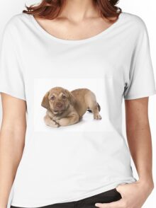 Funny brown puppy retriever Women's Relaxed Fit T-Shirt