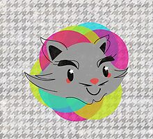 houndstooth cat by hellohappy