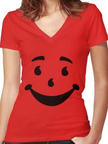 The Koolaid Man Women's Fitted V-Neck T-Shirt