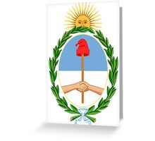 Argentina Coat of Arms  Greeting Card