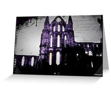 The Castle Ruins in Purple Greeting Card