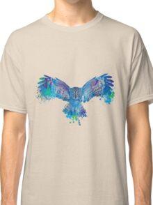 Blue owl flying - color splash Classic T-Shirt