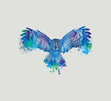 Blue owl flying - color splash Unisex T-Shirt