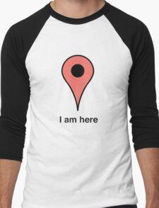 I am here place marker Men's Baseball ¾ T-Shirt