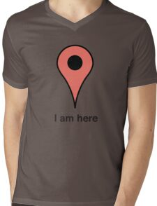 I am here place marker Mens V-Neck T-Shirt