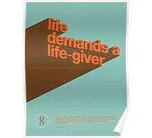 Life demands a Life-Giver Poster