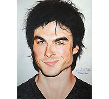 Portrait Drawing Print of Ian Somerhalder Photographic Print