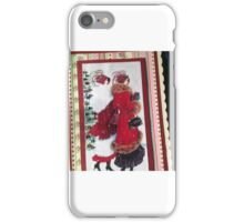 Christmas Greetings Vintage girls on the town iPhone Case/Skin