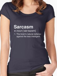 Funny Sarcasm Definition Women's Fitted Scoop T-Shirt