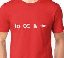 To infinity and beyond symbols Unisex T-Shirt