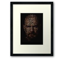 Walter White, Typographic Man of Chemistry Framed Print