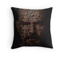 Walter White, Typographic Man of Chemistry Throw Pillow
