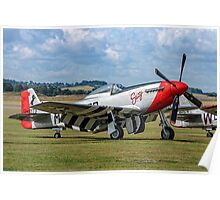 """P-51D Mustang 44-72773 G-CDHI """"Susy"""" Poster"""