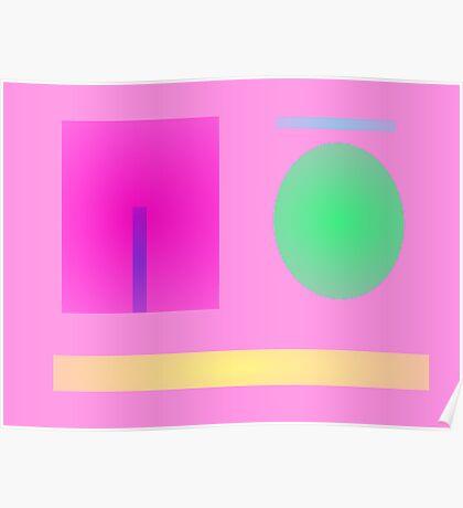 Minimalism Pink Poster