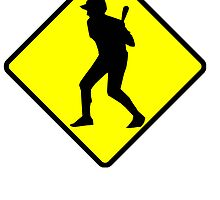 Baseball Batter Road Sign by kwg2200