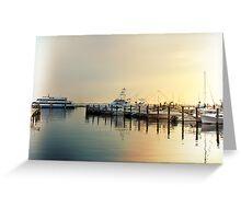 Sunrise In The Harbor - Atlantic Highlands - NJ Greeting Card