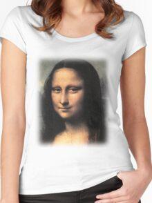 Da Vinci - Mona Lisa Women's Fitted Scoop T-Shirt