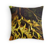 bali roots Throw Pillow