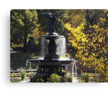 Bethesda Fountain, Central Park,  Autumn Colors, New York City  Canvas Print