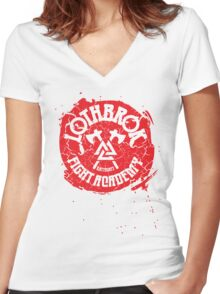 Lothbrok Fight Academy Women's Fitted V-Neck T-Shirt