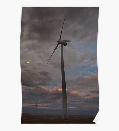 Lake Bonney Windmill Poster