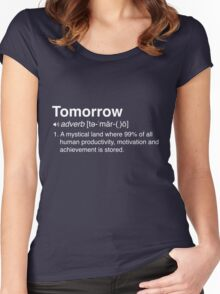 Funny Definition of Tomorrow Women's Fitted Scoop T-Shirt