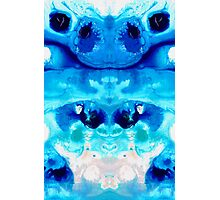 Happiness - Blue Abstract Art By Sharon Cummings Photographic Print