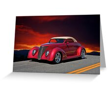 1937 Ford Cabriolet I Greeting Card