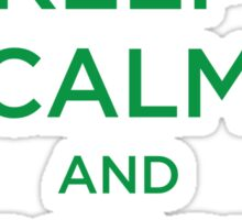 Keep Calm And Recycle Sticker