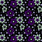 Purple pansy flower pattern by Vicki Field