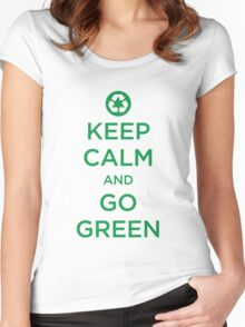 Keep Calm Go Green Women's Fitted Scoop T-Shirt