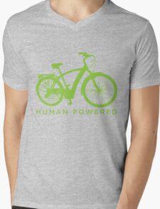Human Powered Mens V-Neck T-Shirt